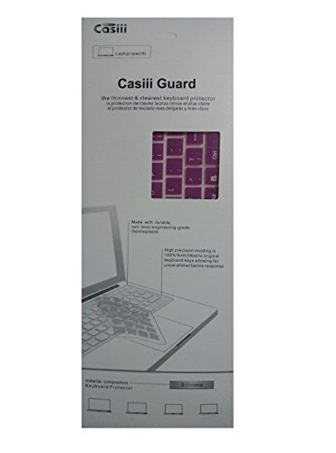 Casiii Asus Keyboard Cover Silicon for ASUS F555LA - AB31 D553M 15.6-inch Full-HD Laptop (Purple)